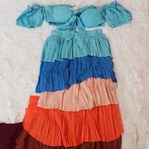 Dresses & Skirts - NWT‼ BOHO / Bohemian DRESS SKIRT OFF SHOULDER TOP